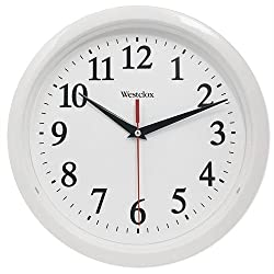 Westclox 461761 Basic Wall Clock, White, 10
