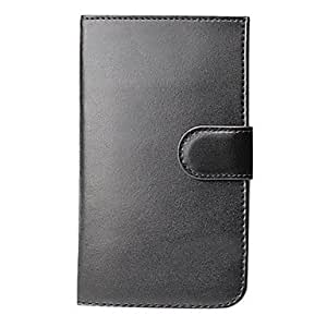 RC - Double Fold Black Leather Wallet Case with Card Slot for Samsung Galaxy S3 I9300 I9308