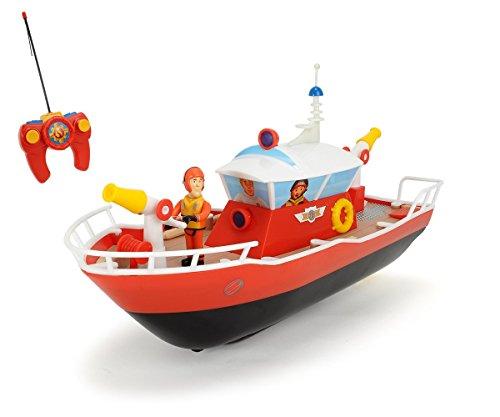 Dickie Toys 203099621 - RC Feuerwehrmann Sam Titan, funkferngesteuertes Boot, 29 cm