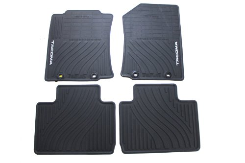 Genuine Toyota Accessories PT908-35121-20 Front and Rear All-Weather Floor Mat – (Black), Set of 4