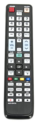 New AA59-00443A Replaced Remote contro for Samsung LCD LED 3D TV Remote AA59-00443A AA59-00441A UN40D6300SFXZA UA55D8000YMXRD UA55D8000YMXXY UN40D6300SFXZA LED TV 6000 Series 6050 Series UN40D6000