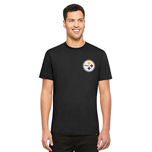 NFL Pittsburgh Steelers Men's '47 Flanker Backer Tee, Medium, Jet (Pittsburgh Steelers Throwback Pennant)