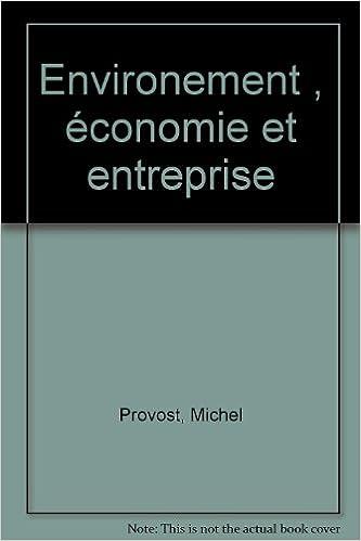 Lire en ligne Environement , économie et entreprise pdf, epub