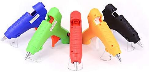 ホットグルーガン、 スティック付き40Wグルーガン、 マルチカラーオプション- 多機能 ホットメルトグルーガン、 カラフルな手作りDIY急速加熱,グリーン