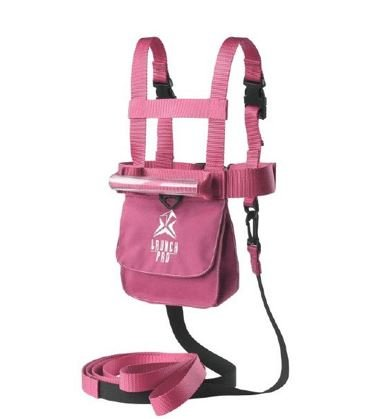 Launch Pad Harness Pink - With Shock Absorbing Leashes (Ski Tip Connector)