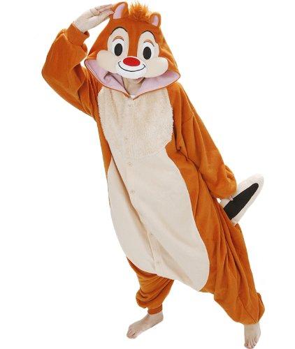 Disney Chip and Dale Kigurumi Adult Pyjamas / Fancy Dress Dale Costume Kigurumi (Chip And Dale Costumes)