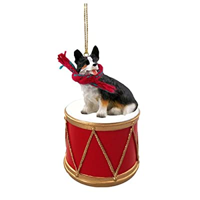 Animal-Den-Little-Drummer-Cardigan-Corgi-Christmas-Ornament-Hand-Painted-Delightful