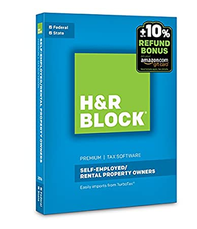 H&R Block Tax Software Premium 2016 + Refund Bonus Offer PC/Mac Disc