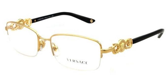 2a6774849c2 Versace Eyeglasses VE 1199 GOLD 1002 VE1199  Amazon.co.uk  Clothing