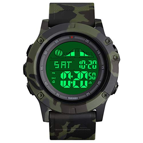 Digital Watches for Men, Multifunction Dual Time Zone Big Face Watch and Multifunction 3 Time Digital Military Watch and…