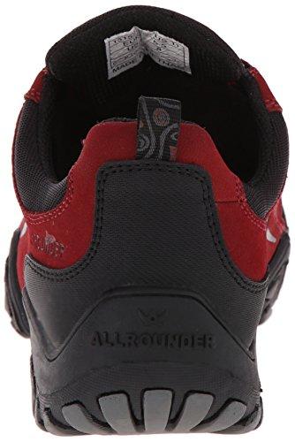 Allrounder By Mephisto Womens Scarpe Sportive Fina Tex Gomma Nera / Nabuk Rosso Medio