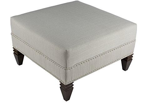 MJL Furniture Designs SachiPlatinum Hugo Collection Square Ottoman, Platnium by MJL Furniture Designs