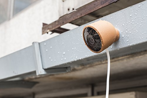 Colorful Silicone Skins for Nest Cam Outdoor Security Camera - Protect and Camouflage your Nest Cam Outdoor with these UV light- and weather resistant silicone skins by Wasserstein (1 Pack, Brown)
