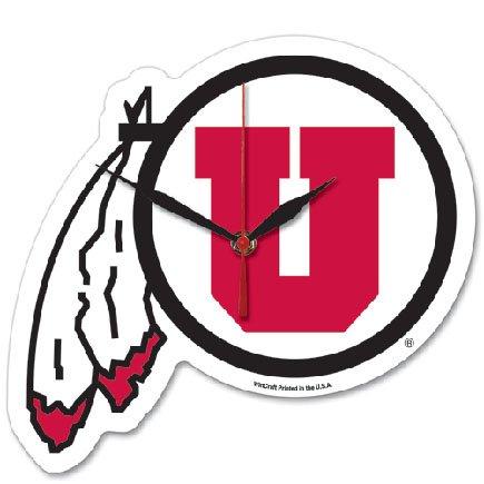 (Wincraft NCAA University of Utah High Definition Plaque Clock)