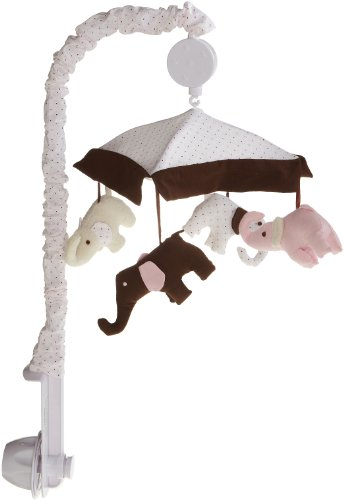 Carter's Pink Elephant Musical Mobile, Pink/Choc, Baby & Kids Zone