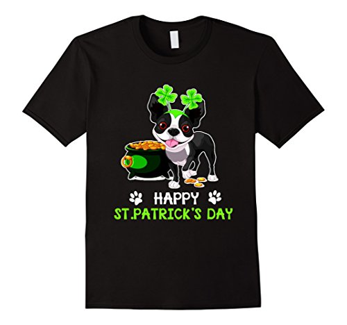 Cute BostonTerrier Shamrock St. Patrick's - History T-shirt Terrier