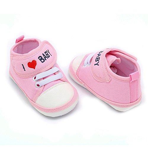 De Antideslizantes Casuales Carta Bebé Niño Yanhoo Amor Nacidos Deportivos Zapatos Infantiles Rosado Recién Suaves xaYTPq