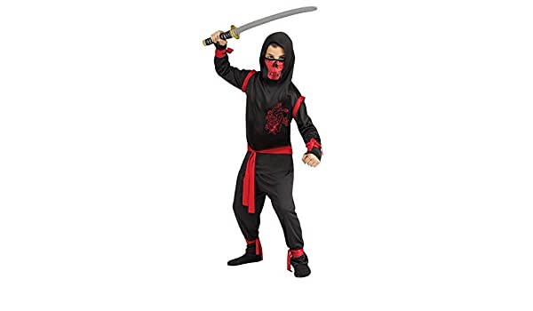 Fun World Dragon Ninja Costume Child Large: Amazon.es ...