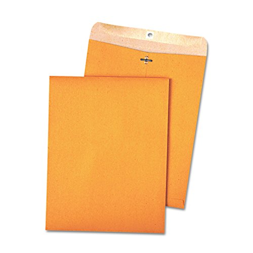 Quality Park 38711 100% Recycled Brown Kraft Clasp Envelope, 9 x 12, Brown Kraft (Box of - Mailing Envelopes Recycled