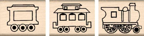 (Stamps by Impression ST 1402 3 Piece Train Set Rubber Stamps)