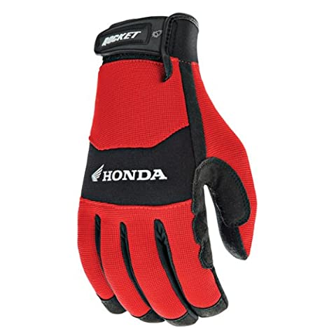 Joe Rocket Honda Crew Touch Mens Red/Black Textile Motorcycle Gloves - Large - Textile Motorcycle Gloves