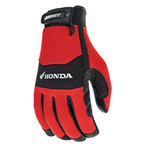 Joe Rocket Honda Crew Touch Mens Red/Black Textile Motorcycle Gloves - Large
