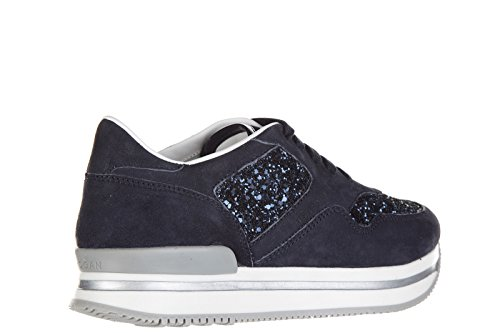 Crianças Sapatos Blu Tênis J222 Hogan Camurça Meninas Sapatilhas 7AZqn55wO