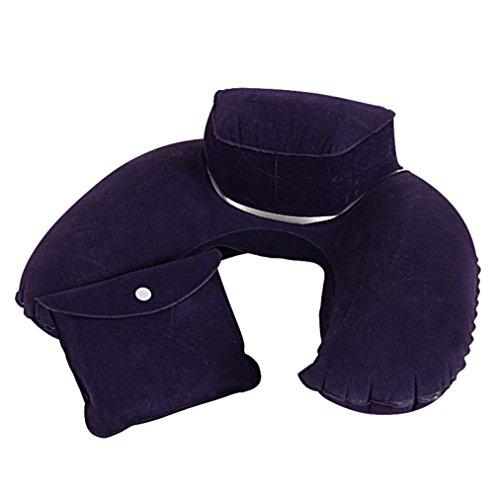 KMG Inflatable Pillow, Kimloog Soft U Shape Portable Washabl