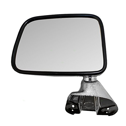 Drivers Manual Side View Mirror Chrome Door Mounted Replacement for Toyota SUV Pickup Truck 8794089134 (Door Mounted Mirror Manual Drivers)