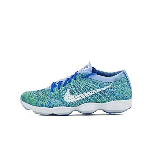 brand new 899f4 ed8f4 Galleon - Nike Womens Wmns Flyknit Zoom Agility, CHALK BLUE WHITE-RACER  BLUE, 6.5 US