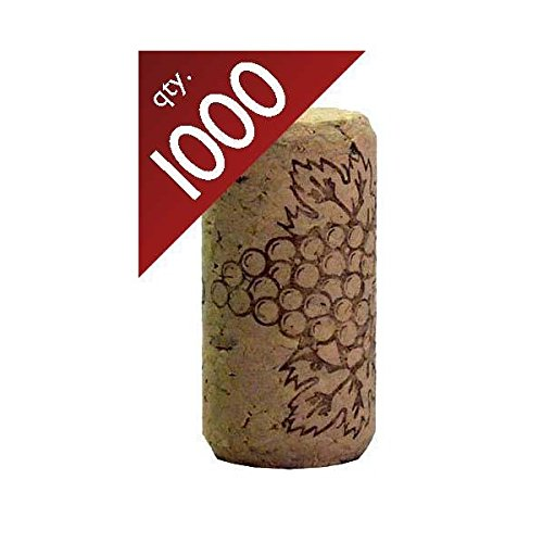 #8 Straight corks 7/8'' x 1 3/4'' Bag of 1000 by Midwest Homebrewing and Winemaking Supplies