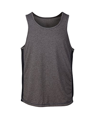 Yoga Athletic Mens Workout Tank Top - Sleeveless With Fast Dry Tech for Exercise (Extra Large, Grey)