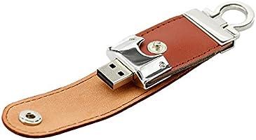 Civetman USB Flash Drive 32GB USB 2.0 Llavero PU Cuero USB ...