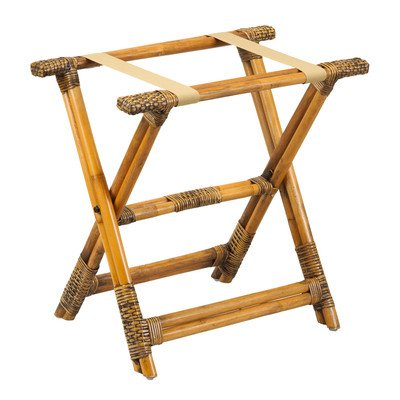 Gate House Furniture Luggage Rack, Natural Rattan (Rattan Suitcase)
