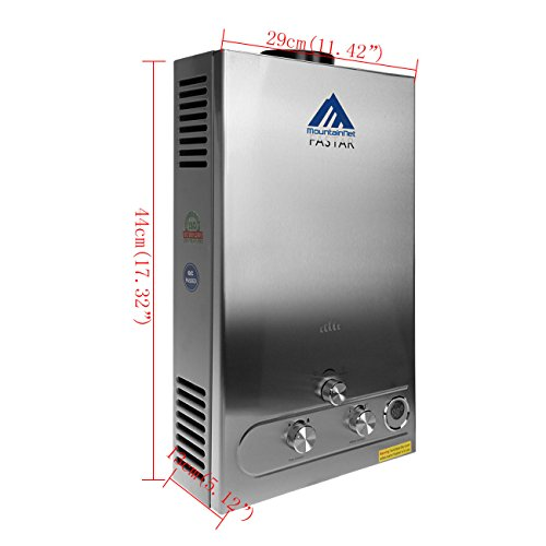 Paneltech 8l 2800pa Lpg Hot Water Heater Propane Gas