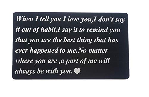 Wallet Card Insert Metal When I Tell You I Love You Wallet Card Gifts for Boyfriend Groom Husband