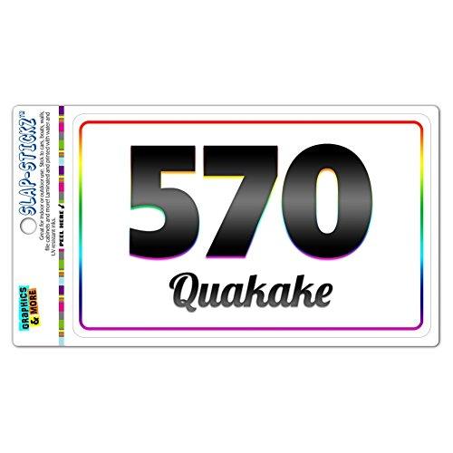 Area Code Rainbow Window Sticker 570 Pennsylvania PA Nuremberg - Shawanese - Quakake
