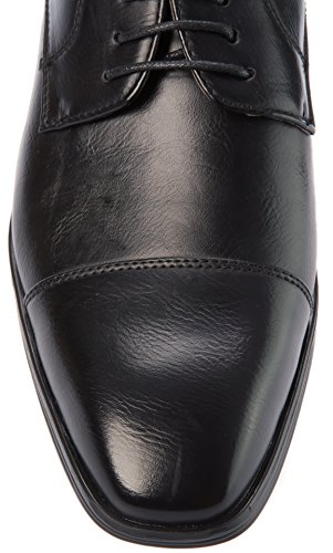 Alberto Fellini Mens Lace-Up Derby Cap Toe PU Leather Dress Shoes For Wedding Party Office Work Church Or Other Formal Event Black a6qBrc8Syt