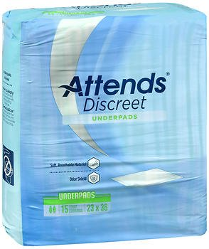 Attends Disposable Underpads Light Absorbency - 10 pks of 15, Pack of 4