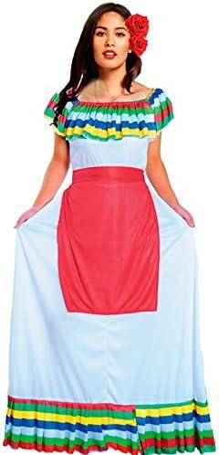 Disfraz Mejicana Mujer para Carnaval: Amazon.es: Juguetes y juegos