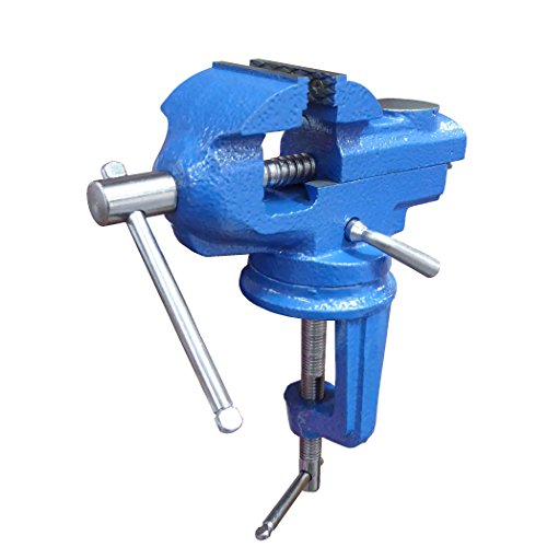 - Small Clamp on Work Bench Vise with Anvil and Swivel Base