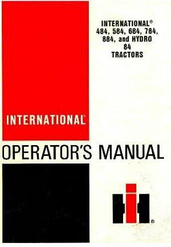 1258519c1 484 584 684 784 884 hydro 84 tractor operators manual rh amazon com
