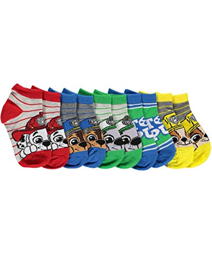 Nick Jr, Paw Patrol Striped Boys 5 Pk (5 Pair) Shorty Socks