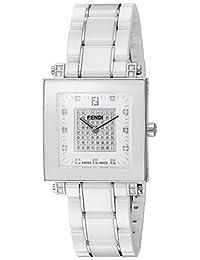 Fendi Women's 'Ceramic' Swiss Quartz Dress Watch, Color:White (Model: F626140DPDC)