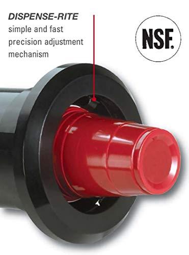 DISPENSE-RITE STL-2 Dispense-Rite in-Counter Cup Dispenser, Adjustable from 8 oz. to 44 oz, Plastic, 2 Spring, 22