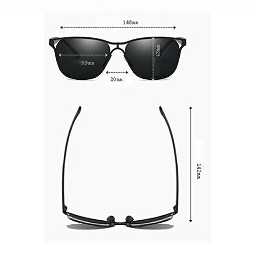 Grandes Color Gafas de Informal 3 Gafas 5 Conductor de sol sol Gafas Metal Calado Conducción RAQ polarizado Hombre wUZ7nq