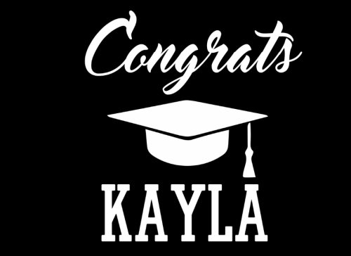Congrats Kayla: Graduation Cap Guest Signing Book For Party, Personalized Gift. Graduate Advice or Autograph Book Lined. (Tassel Zone)