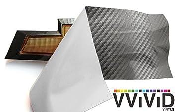 11.8 x 4 VViViD XPO Gunmetal Grey Carbon Fiber Chevy Bowtie Logo Wrap Kit + 3M Toolkit 4 Rolls