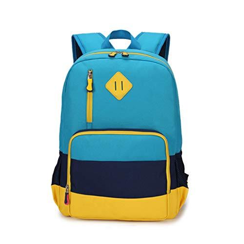 Zmsdt Mochila de Moda para niños y niñas Bolso de Escuela Primaria 3-4-6 Grado Versión Coreana de la Mochila (Color : Azul): Amazon.es: Electrónica