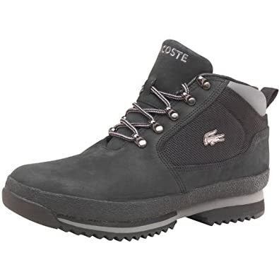dc414666b02c64 Lacoste Mens Upton Nubuck Boots Black - 11 UK 11 EUR 46  Amazon.co ...